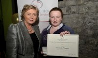 Shantelle Donegan receives her Award from Minister Fitzgerald